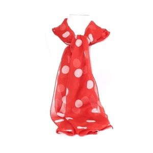Women's Red polka dot neck scarf